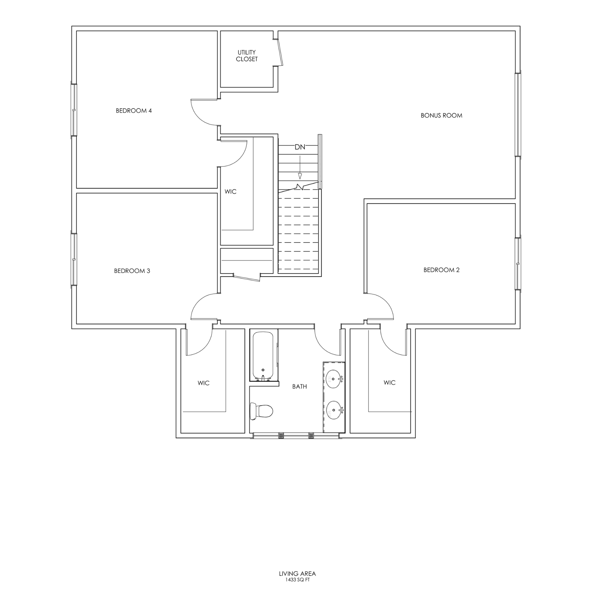 Bungalow 2nd Floor Plan